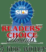 Readers' Choice Awards 5 Time Winner