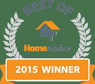 Best of HomeAdvisor Winner 2015