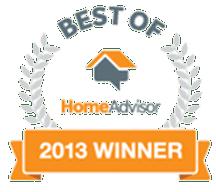 Best of HomeAdvisor Winner 2013